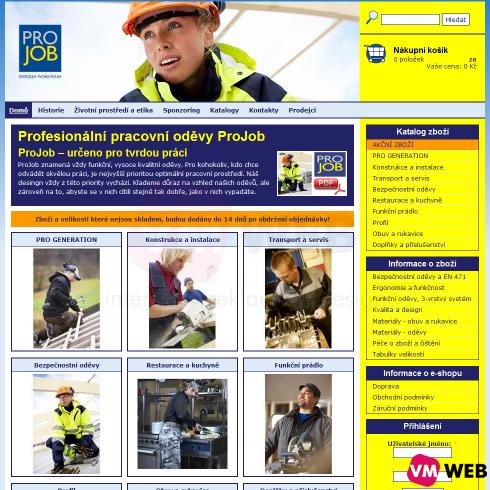 ProJob homepage
