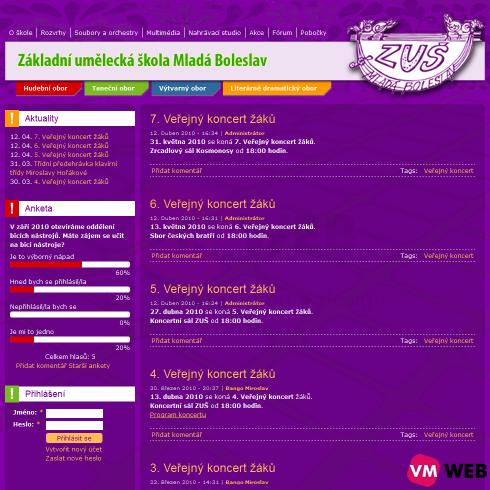 ZUŠMB homepage